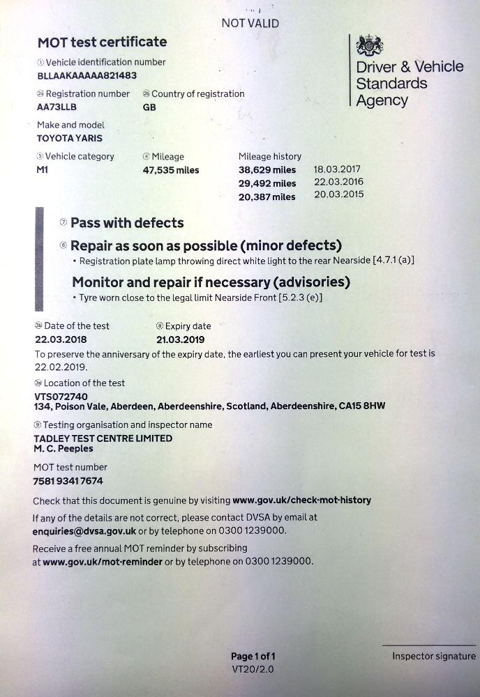 Mot Test Certificate Vt20 Pdf Download - King Cameran Foundation